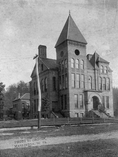 Pocahontas County Courthouse circa 1895