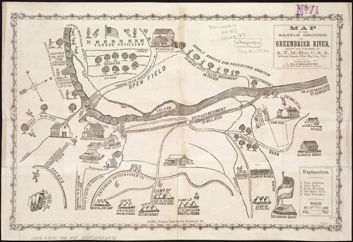 Greenbrier River Civil War Map