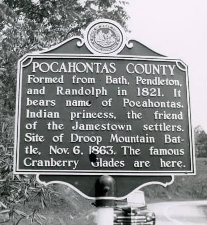 Pocahontas County Marker